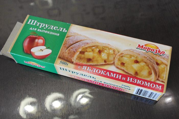 Штрудель с яблоками и изюмом от компании «Морозко»